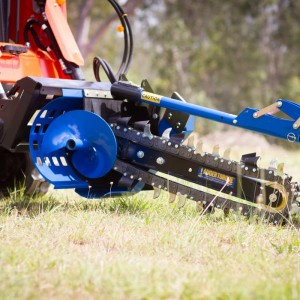 Auger Torque trencher for mini loaders