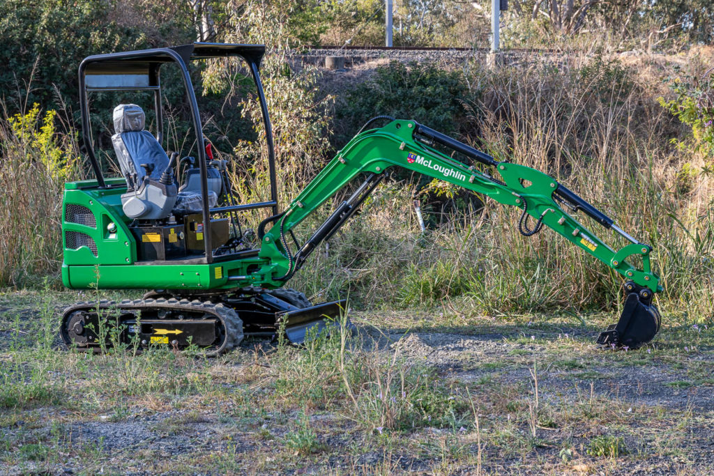 Picture of a J18 Mini Excavator